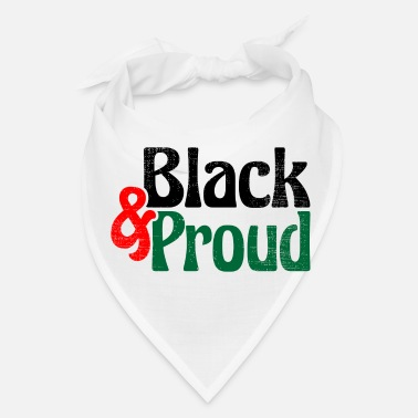 Black History Black and Proud Vintage - Bandana