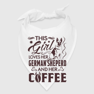 This girl loves her German Sheperd and her Coffee - Bandana