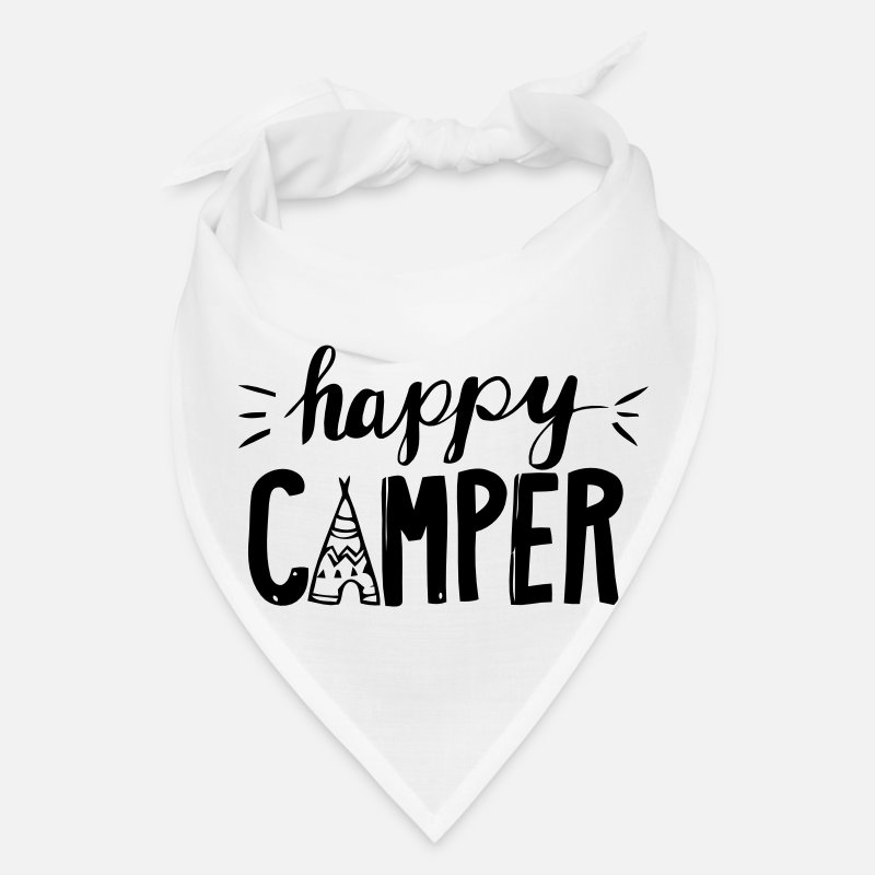 Camper Caps - HAPPY CAMPER - Bandana white