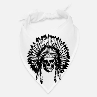 American Indian Chief Skull  - Bandana