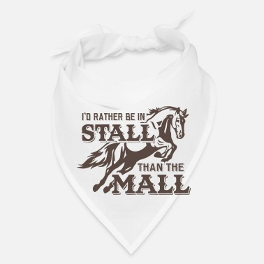 Malle Rather in stall than mall - Bandana