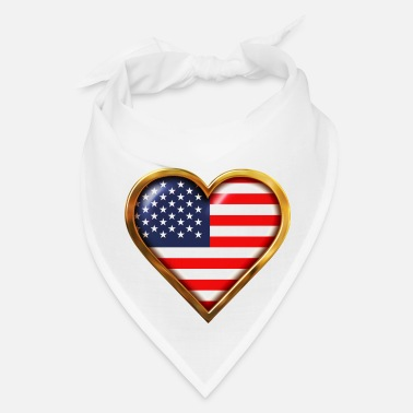 Shape Heart-Shaped American Flag - Bandana