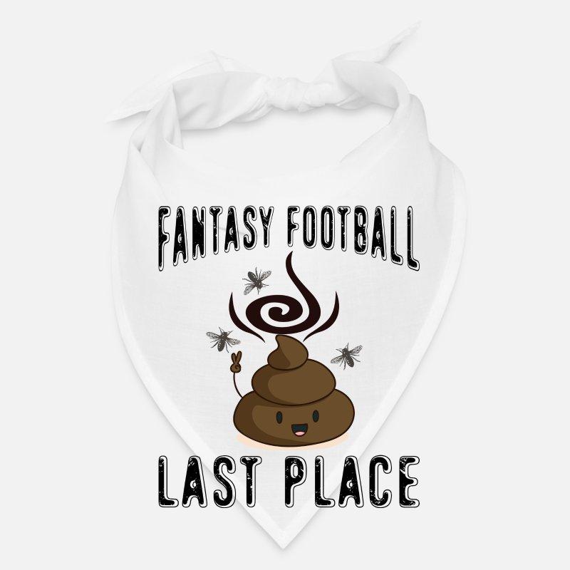 Poop Emojis product Fantasy Football Last Place Bandana - white