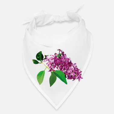 Lilac Small Cluster of Pink Lilacs - Bandana