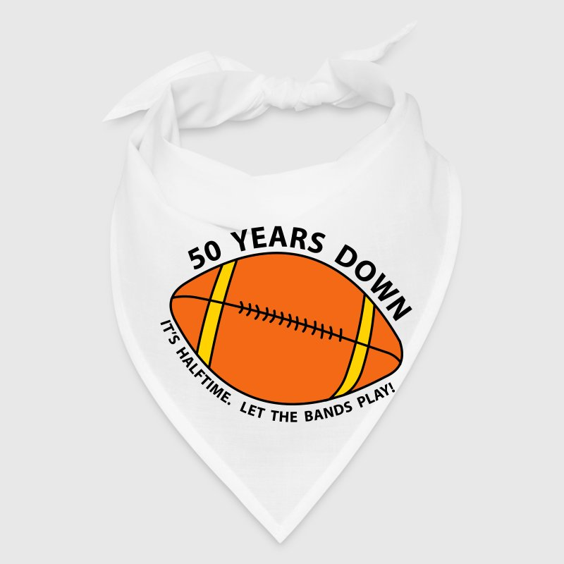 50th Birthday Football - Bandana
