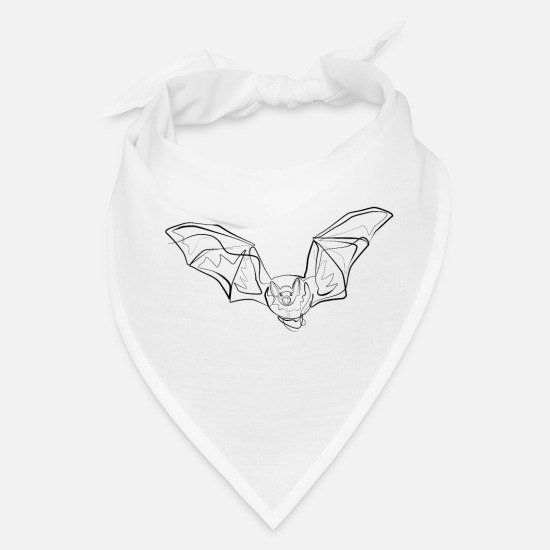 Drawing Caps - Bats - one line drawing - Bandana white