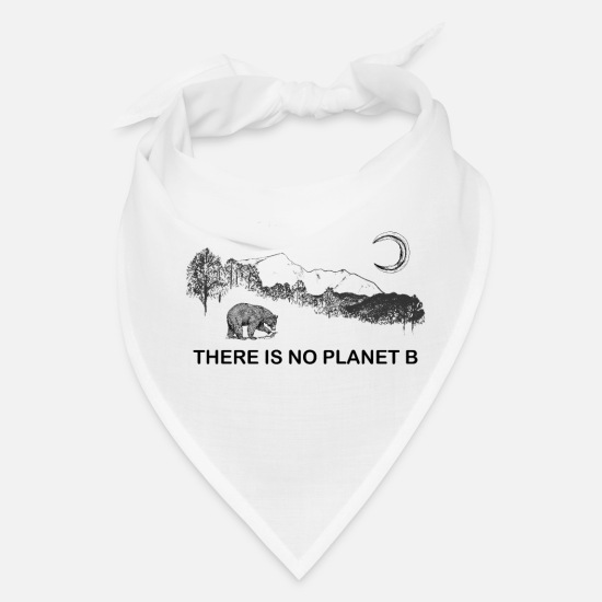Planet Caps - There is No Planet B - Bandana white