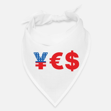 Euro yes money currency yen euro dollars american flag - Bandana