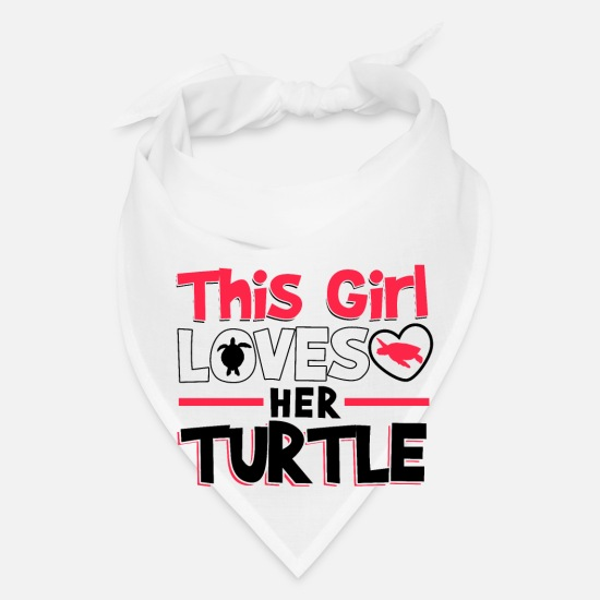 Turtle Caps - This Girl Loves Her Turtle - Bandana white