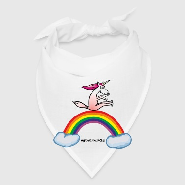 Crazy rainbow sliding on a unicorn - Bandana