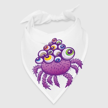 Monstrous multi-eyed purple spider - Bandana