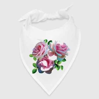 Light Pink Rose Heart - Bandana