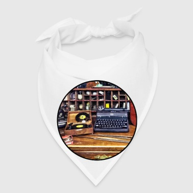 Vintage Typewriter and Vinyls - Bandana