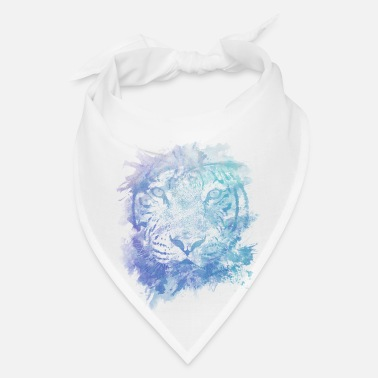 Leopard Tiger Face - Abstract Creative Watercolor Style - Bandana