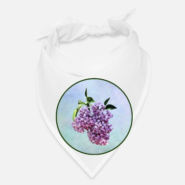 Lilac Delicate Pink Lilacs With Background - Bandana