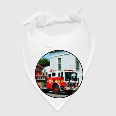 Fire Engine in Front of Fire Station - Bandana