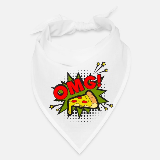 Art Caps - Pop Art Design OMG! Vintage Men Women Gift Idea - Bandana white