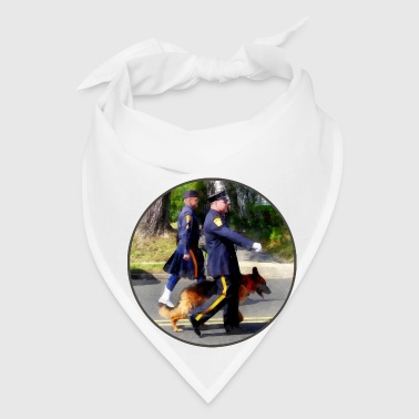 Policeman and Police Dog - Bandana