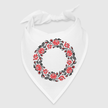 Red rose circle - Bandana