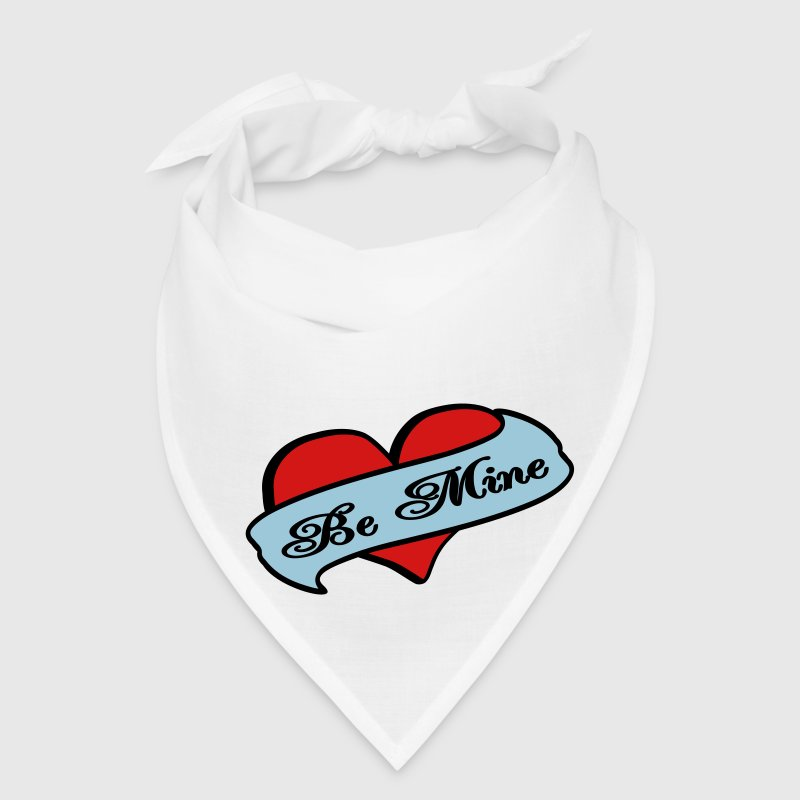 Be Mine Heart Banner Tattoo - Bandana