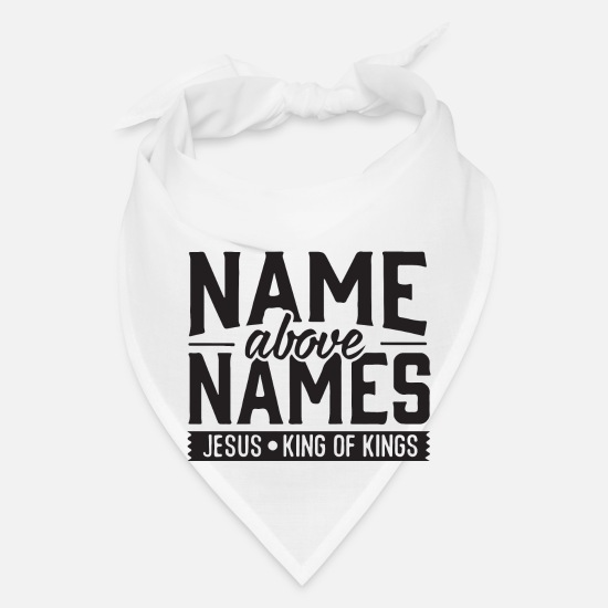 Rap Caps - name above names - Bandana white