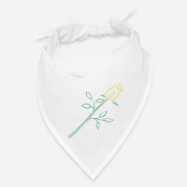 Yellow Rose Yellow Rose Art Deco - Bandana
