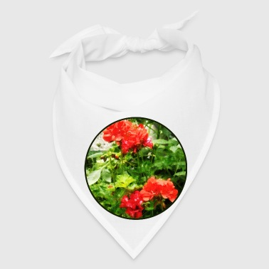 Bright Red Geraniums - Bandana