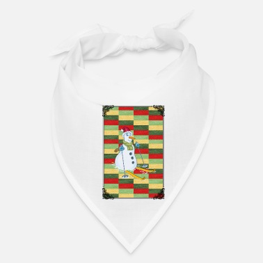 Advent SKIING SNOWMAN! GIFT IDEA FOR THE ADVENT - Bandana