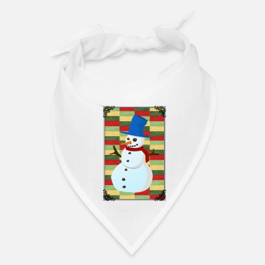 Advent SNOWMAN ILLUSTRATION! GIFT IDEA FOR THE ADVENT - Bandana
