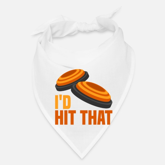 Sayings Caps - Skeet Clay Shooting - I`d Hit That Gift T-Shirt - Bandana white