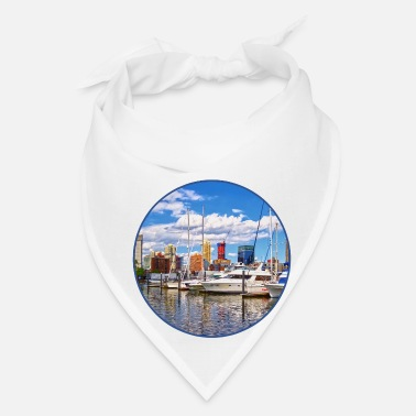 Against Liberty Landing Marina Against Jersey City Skyline - Bandana