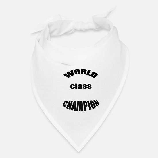 World's Best Caps - WORLD CLASS CHAMPION - Bandana white