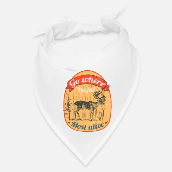 Stag Caps - Wild Deer Logo Illustration - Bandana white