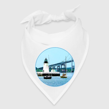 Lighthouse, Bridge and Boats, Newport, RI - Bandana