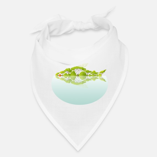 Mirror Caps - Fish Tree - Bandana white