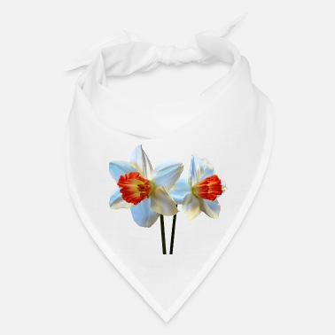 Association Two White And Orange Daffodils - Bandana