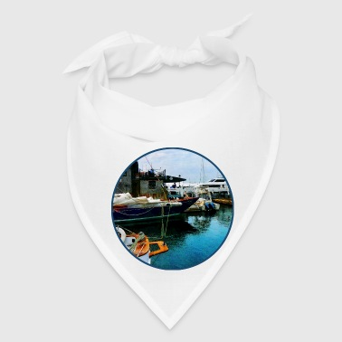 Docked Boats In Newport RI - Bandana