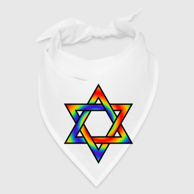Rainbow gradient Star of David symbol - Bandana
