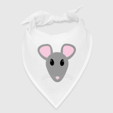 sweet gray mouse face - Bandana