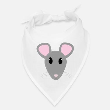 Mouse sweet gray mouse face - Bandana