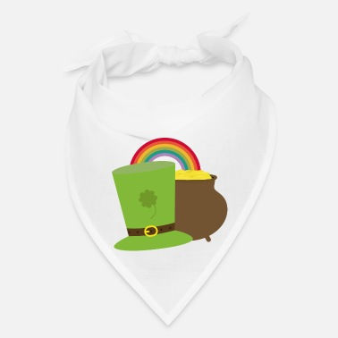 Leprechaun rainbow gold and leprechaun Gift - Bandana