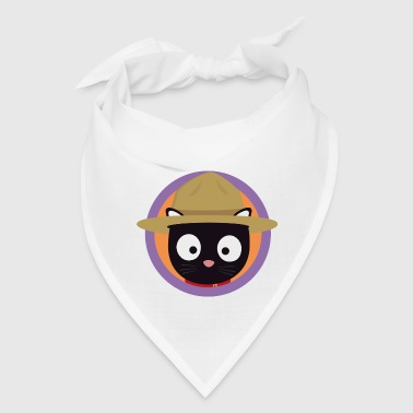 Park ranger cat in purple circle - Bandana