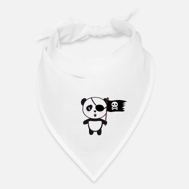 Asian Pirate Panda with Flag - Bandana