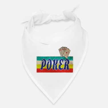 Bluff Poker Vintage Design with Playing Cards / Present - Bandana