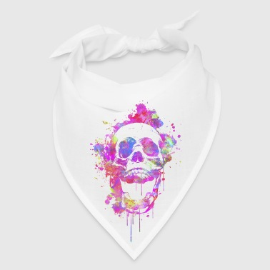 Cool & Trendy Watercolor Skull - Bandana