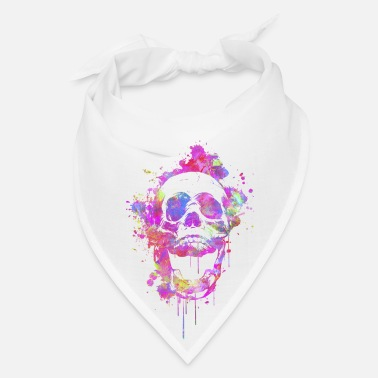 Neon  Cool & Trendy Watercolor Skull - Bandana