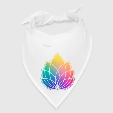 Colorful Abstract Yoga Geometry Blossom / Flower - Bandana