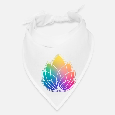 Spiritual Colorful Abstract Yoga Geometry Blossom / Flower - Bandana