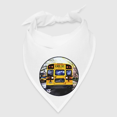 Parked School Buses in Spring - Bandana