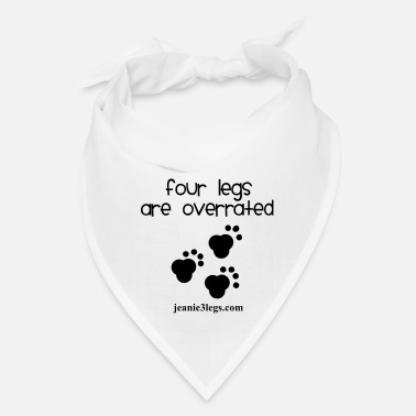 Paw Jeanie Paw Prints Four Legs Are Overrated - Bandana